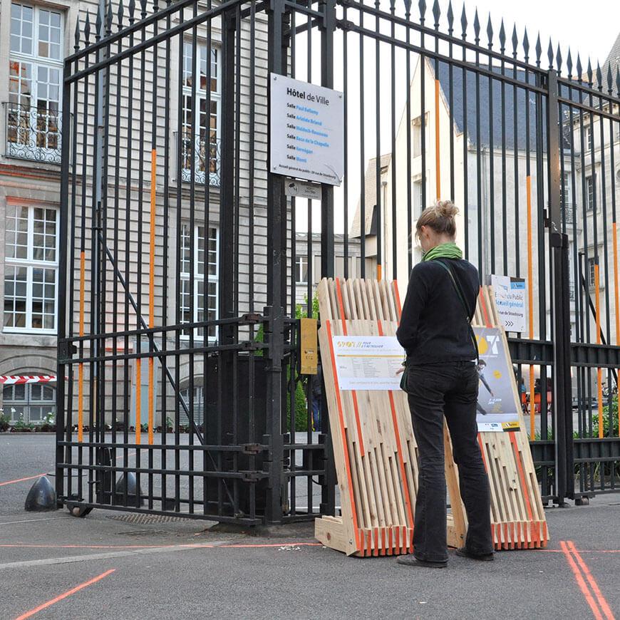 Scénographie éco-responsable du festival SPOT 2015 pour la Mairie de Nantes